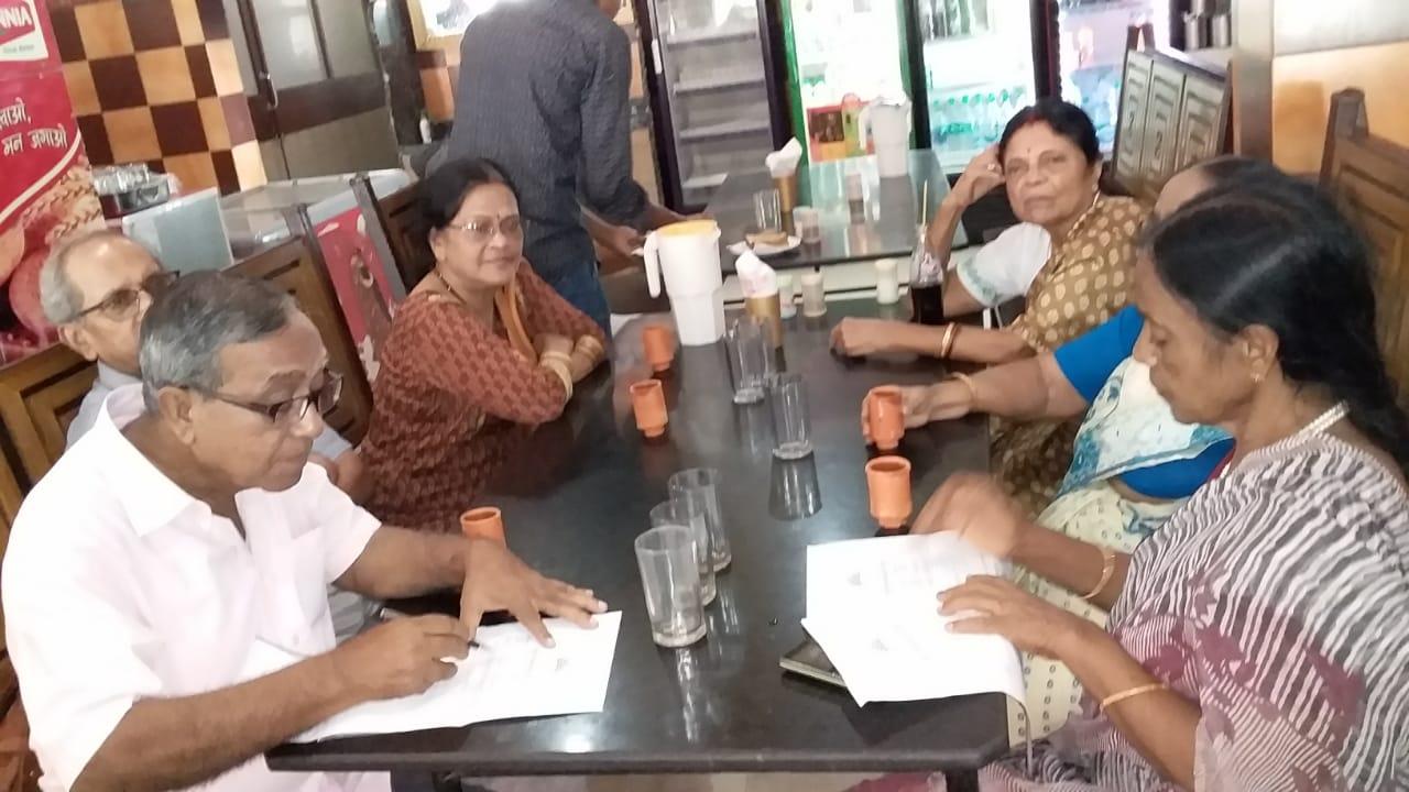 Tea time with seniors