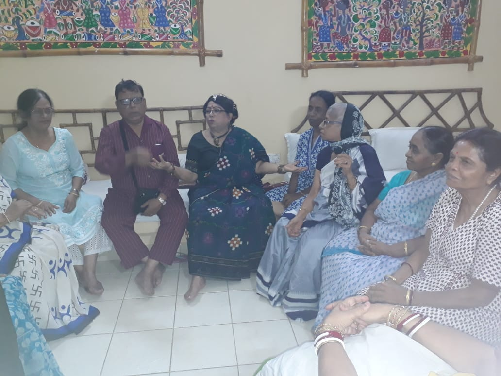 Adda with seniors