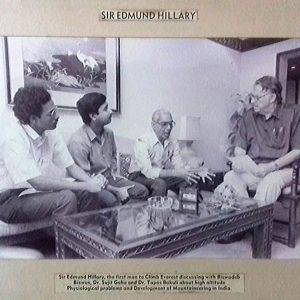 Biswadeb Biswas with sir Edmund Hillary