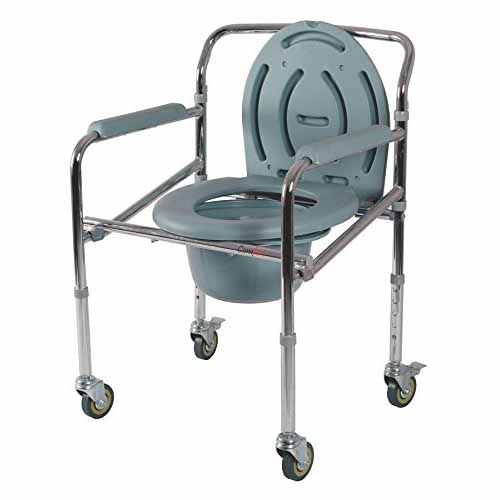 Comfort - Steel Folding Commode Chair Castors