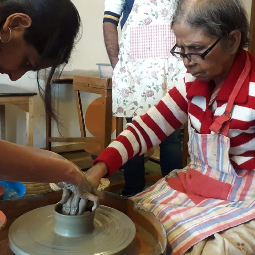Pottery Workshop with senior members