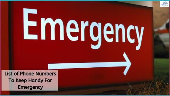 List of emergency numbers